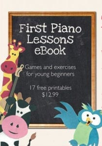 The first piano lessons eBook featured image