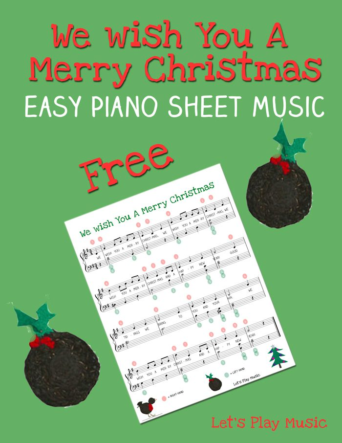 Easy Piano Sheet music for we wish you a merry christmas