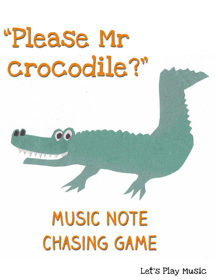 Please Mr crocodile note chasing game