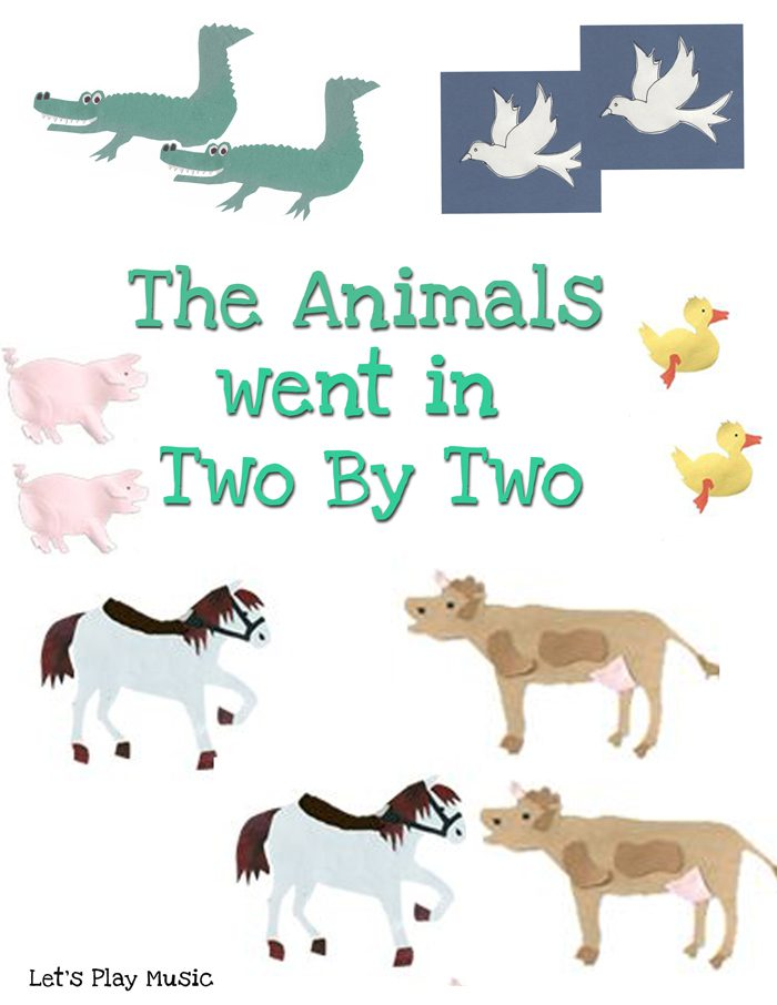 animals went in two by two counting song